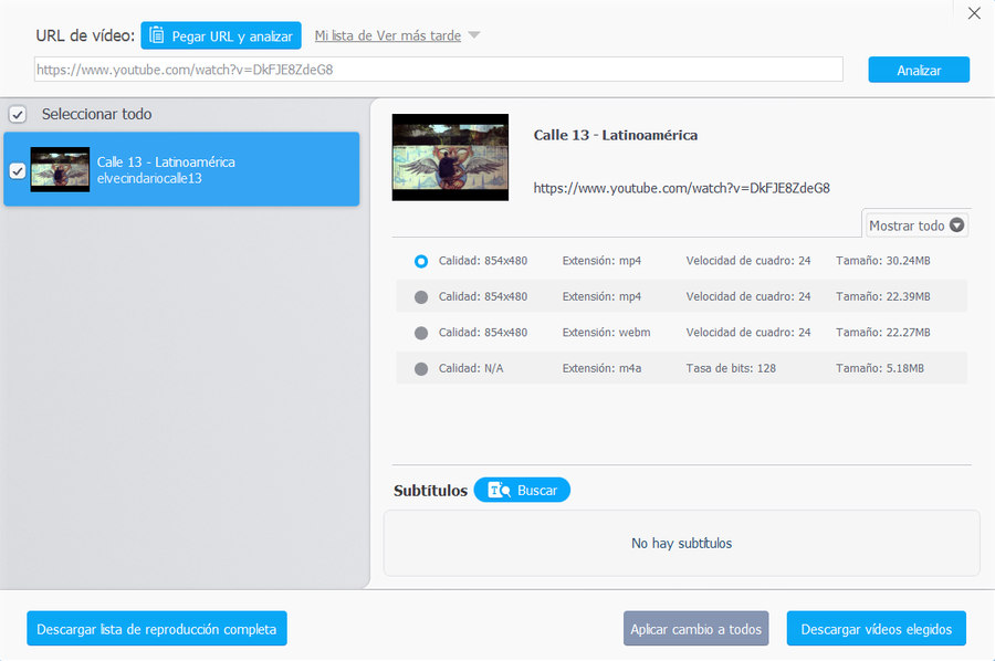 Descargar videos de Youtube VideoProc