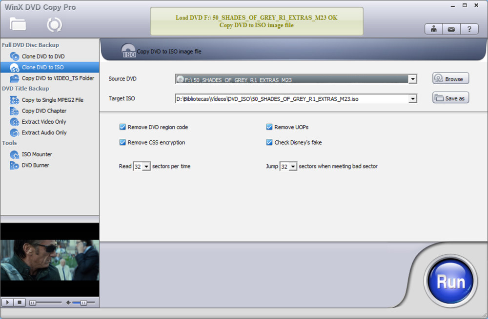 WinX DVD Copy Pro Copiar DVD a ISO