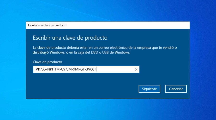 Claves para activar Windows 10