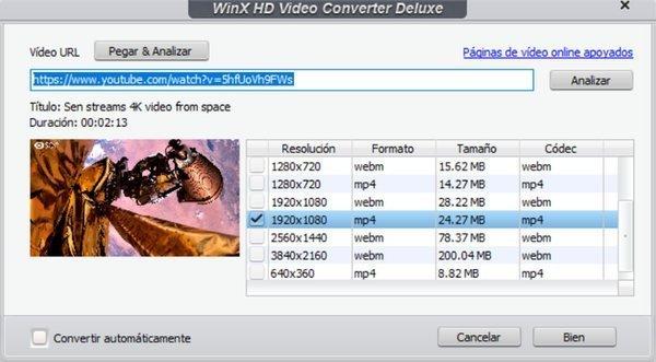 Descargador de videos en línea