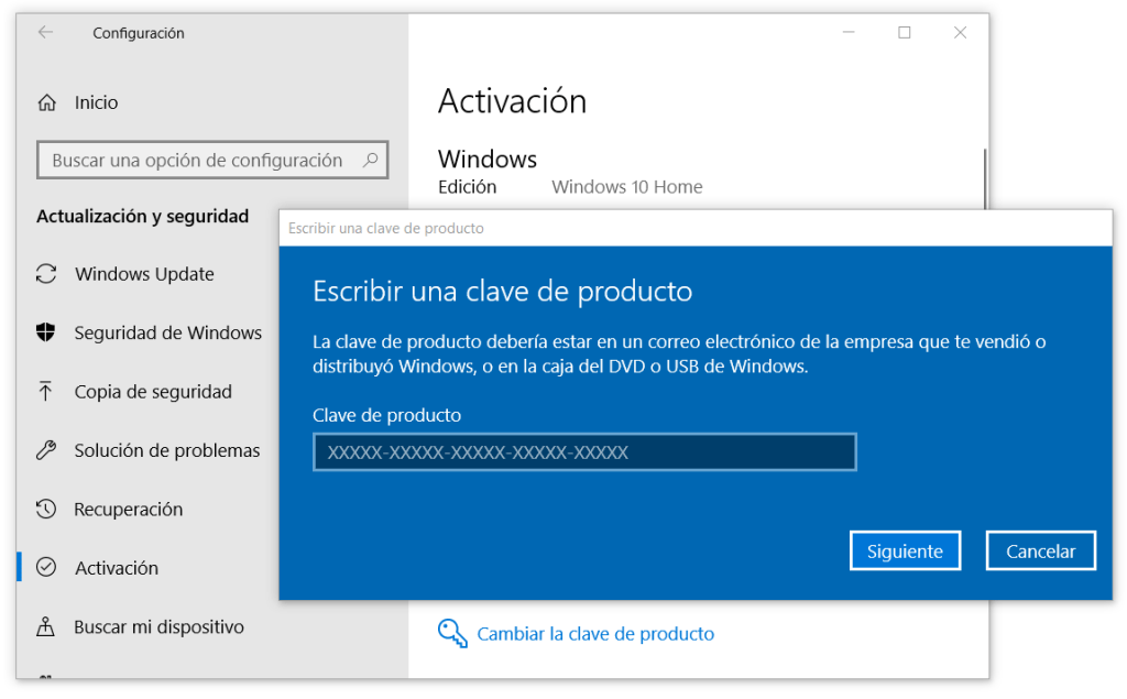 Activar windows 10 con licencia