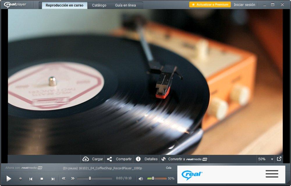 Reproductor multimedia RealPlayer gratis