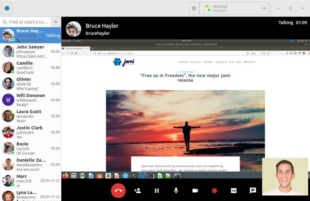 Jami software para videollamadas gratis e ilimitadas