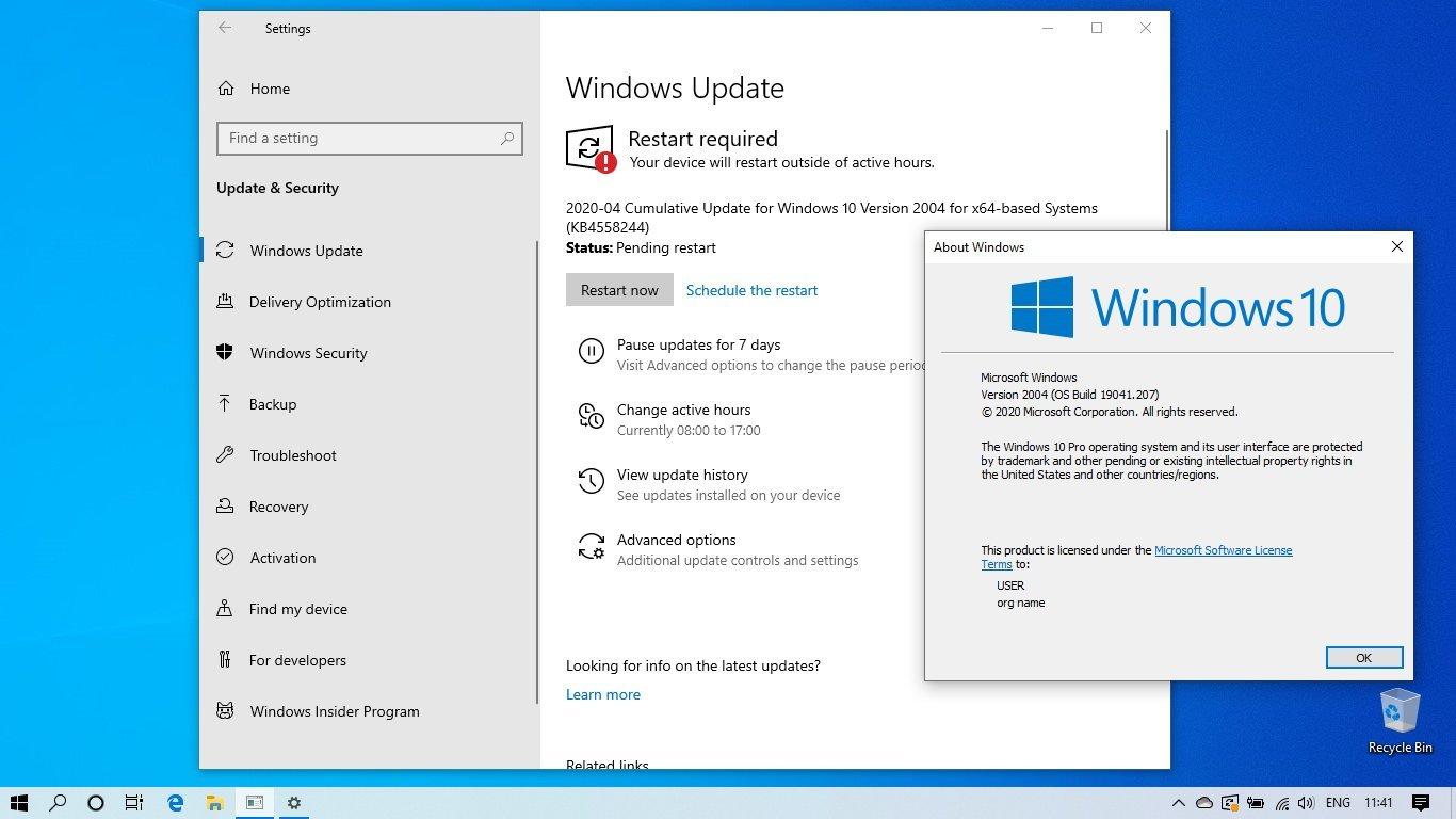 Actualización Mayo 2020 Windows 10 version 2004