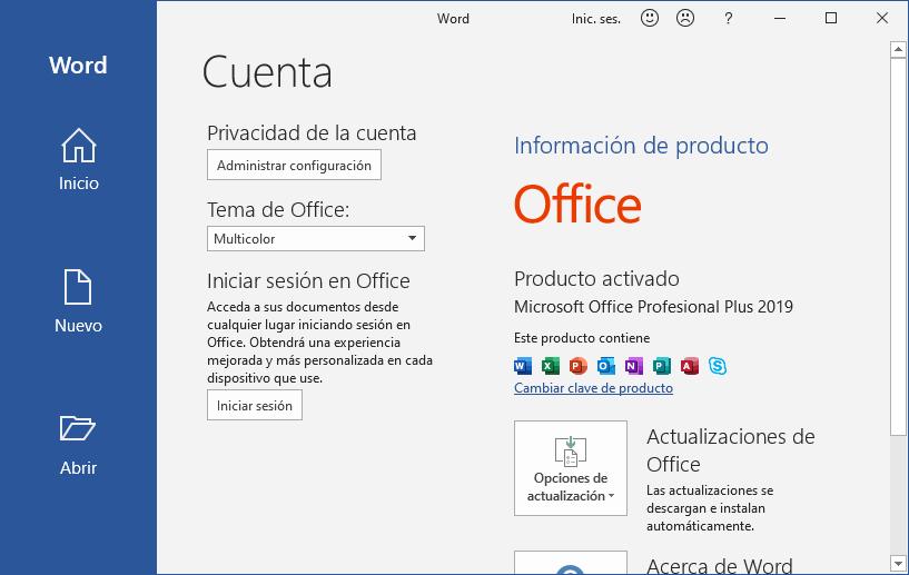 licencias Office 2019