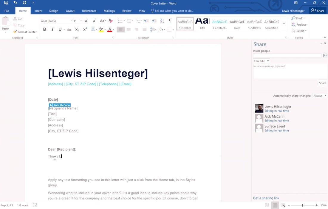 Colaboración en tiempo real Office 365