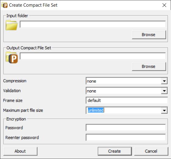 Comprimir archivos PFM