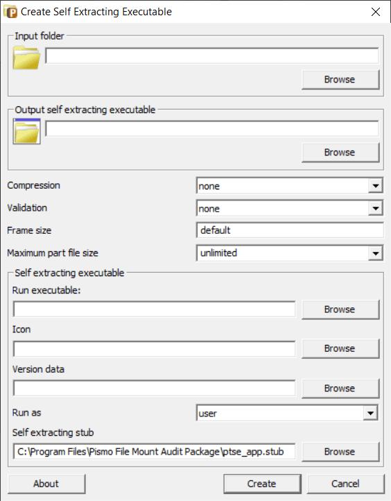 Crear Crear ejecutables autoextraíbles con PFM