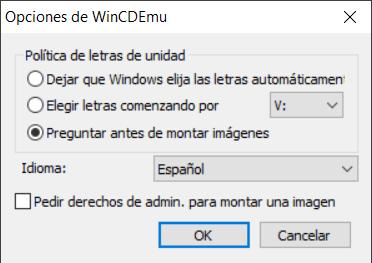 WinCDEmu opciones