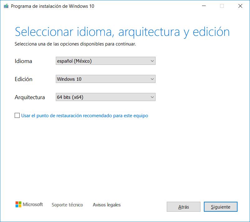 Crear medio de instalación USB DVD