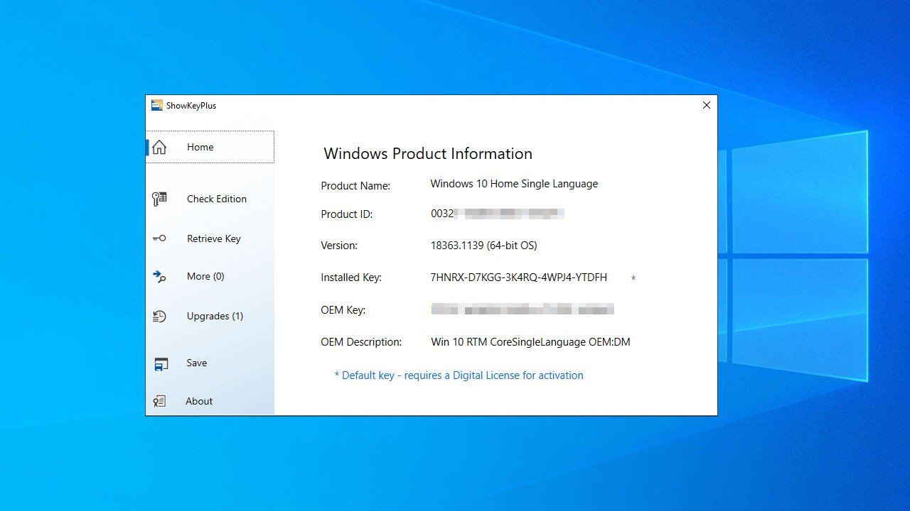Programas para recuperar clave de licencia de Windows y Office