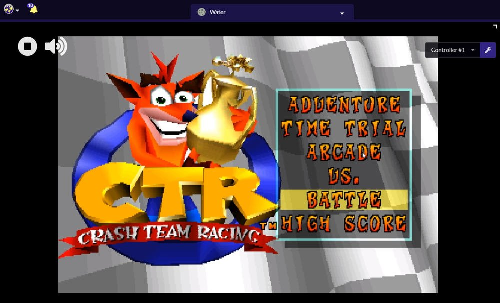 Crash Team Racing emulador PlayStation 1 online