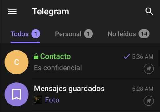 Chat secreto Telegram