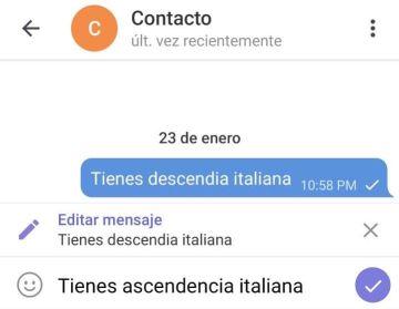 Editar mensajes en Telegram