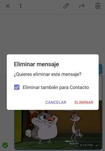 Eliminar mensajes Telegram