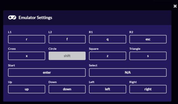 Controles mando emulador PlayStation 1