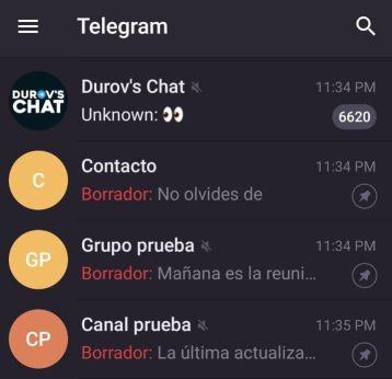 Borradores Telegram
