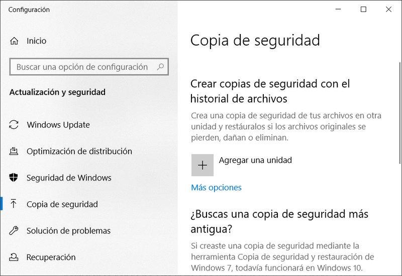 Copia de seguridad Windows