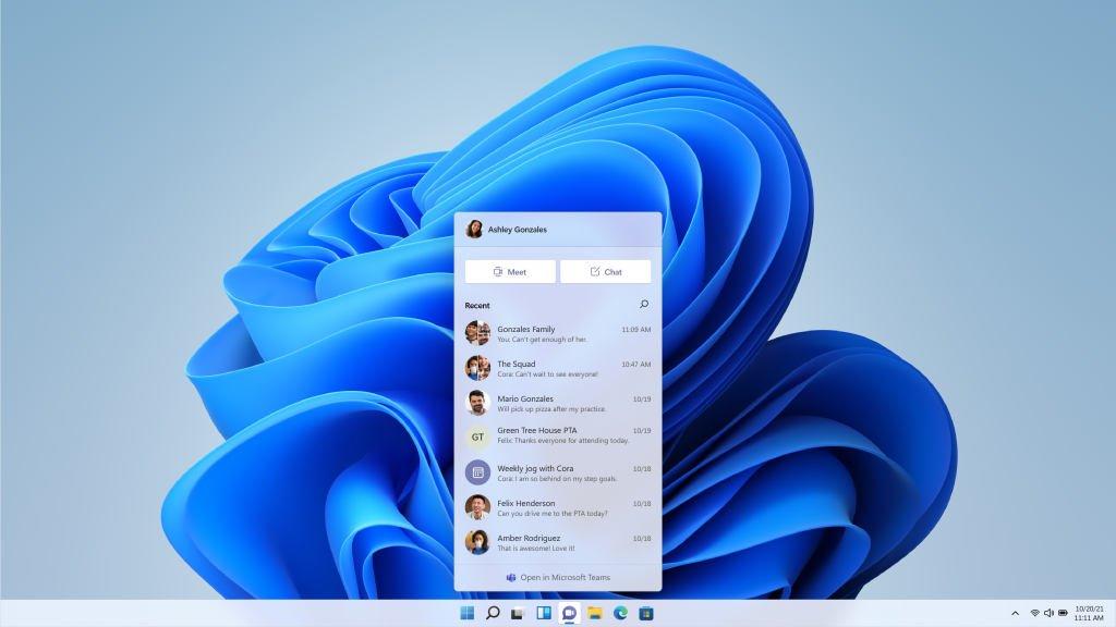 Chat integrado en Windows 11