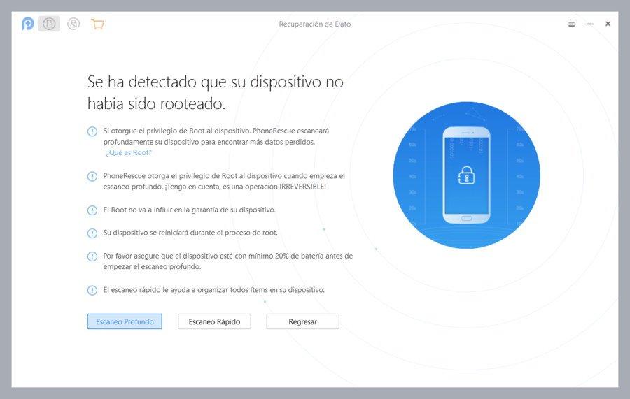 PhoneRescue recuperar archivos Android