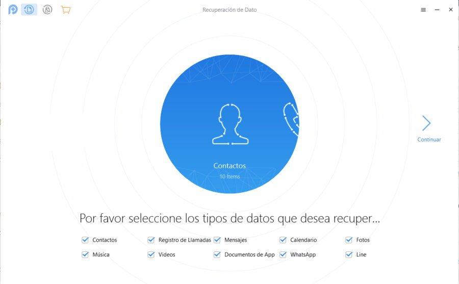 PhoneRescue recuperar archivos iOS