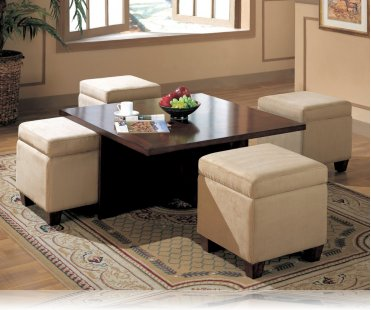 hines coffee table and 4 storage cubes coffee tables coaster 700006