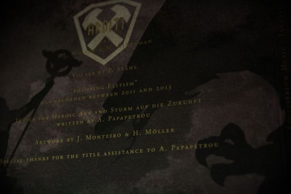 Imposing Elitism Digipak - Credits flap detail