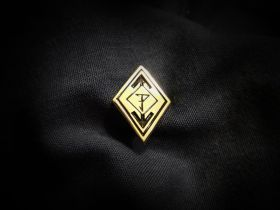 PUISSANCE - Diamond Logo Gold Pin