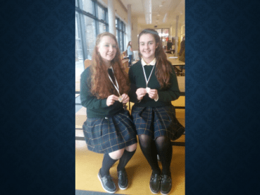 All Ireland finalists in Junior Mace Debating competition May 2018