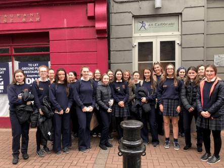 Leaving Cert Irish class visit to An Tabhiarc