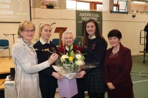 l-r Mairead McGuinness_ Aisling Doherty_ Sr Loreto_ Patricia Kilgallen and Rachel Whyte