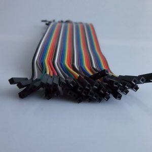 Arduino 20cm Femmina TO Femmina Solderless Jumper Breadboard Wires (40-Cavo Pack)