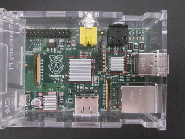 Raspberry PI pure Alluminio Dissipatore kit