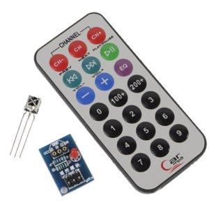 Microcontroller Infrarossi Controllo Remoto Modulo + Ricevitore head HX1838 + NEC coded Infrarossi, Controllo Remoto