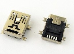 5 Pezzi MINI USB Femmina socket 5P SMD