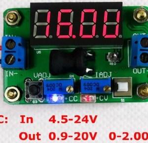 Integrated DC-DC Voltaggio meter, Regolabile constant Voltaggio constant current Modulo di Alimentazione