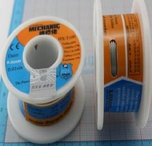 Solder, 0.6MM fine Stagno, Stagno 100 g active
