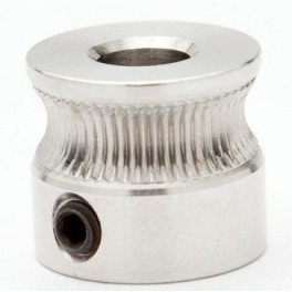 RepRap, Mendel, 3D Printer MK7 Drive Gear. Puleggia, For 5mm Nema17, steel 304