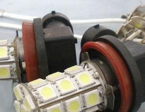 Lampada Led 24V H3 27 SMD Luce Fendinebbia Daylight