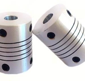 2 Pezzi 6x6.35 Size Motore Alluminio flexible coupling Coupler