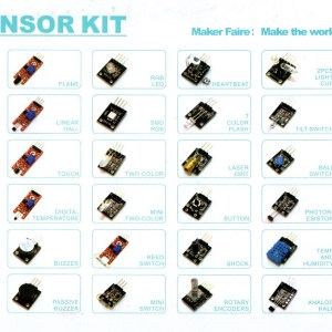 H023 37 in 1 Sensore Modulo Shield Start Kit per Arduino