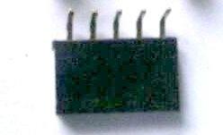 10 Pezzi 1*5P 2.54mm Bent Pin Header Femmina Connettore Plug