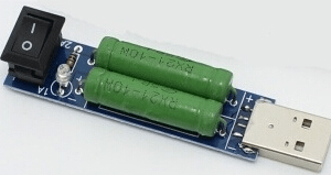 USB Load Tester Discharge Resistenze USB Charge Current Detection USB Mini Discharge Load Resistor 2A / 1A Pulsante