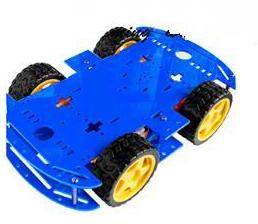 Blue 4WD Dual Classis Robot Car