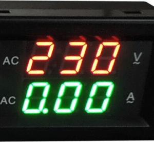 YB4835VA 300V 500A Split Dual LED Voltmetro Amperometro Digitale