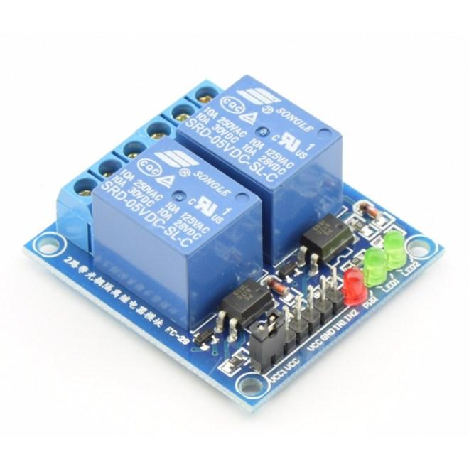 Modulo Relè 2 Canali 5v High Level Con Led Per Arduino Arduiner Arduino Components Shop
