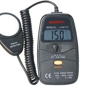MASTECH MS6610 Luxmetro Misuratore intensità luce illuminometro