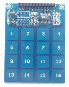 TTP229 Modulo sensore tattile digitale a 16 vie con interruttore tattile capacitivo per Arduino