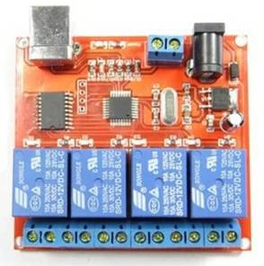 Modulo relè 12V a 4 canali con interruttore di controllo USB