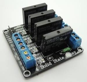 Relè a basso livello a relè a stato solido SSR a 4 canali 5V con fusibile stabile 240V 2A